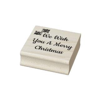 Le deseamos un sello de goma de las Felices