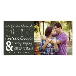 Le deseamos una tarjeta de la foto de las Felices