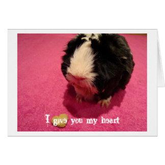 Le doy mi tarjeta de felicitación del corazón