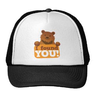 LE ENCONTRÉ oso de la comida campestre de los osos Gorros Bordados