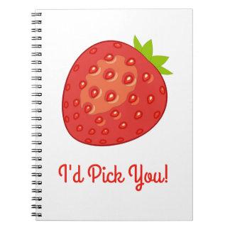 """""""Le escogería!"""" Cuaderno espiral de la fresa"""