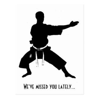 Le hemos faltado últimamente postal del karate