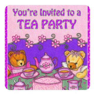 Le invitan a los osos de un Card~Teddy de la Invitación 13,3 Cm X 13,3cm