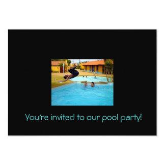 ¡Le invitan a nuestra fiesta en la piscina! Invitación 12,7 X 17,8 Cm