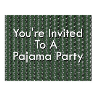 Le invitan a un fiesta de pijama postal