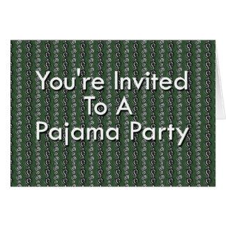 Le invitan a un fiesta de pijama tarjeta de felicitación