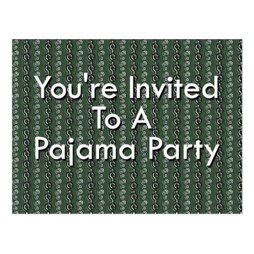 Le invitan a un fiesta de pijama tarjeta postal