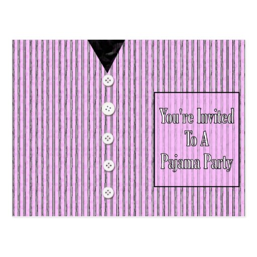 Le invitan a un fiesta de pijama tarjetas postales