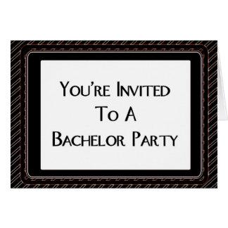 Le invitan a una despedida de soltero tarjeta de felicitación