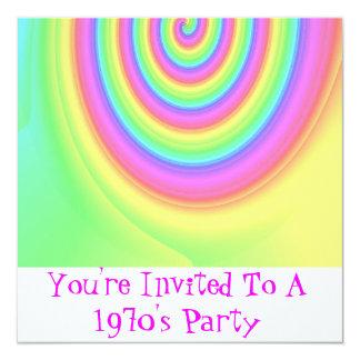 Le invitan al fiesta de los años 70 de A Invitación 13,3 Cm X 13,3cm