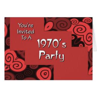 Le invitan al fiesta de los años 70 de A Tarjeta De Felicitación