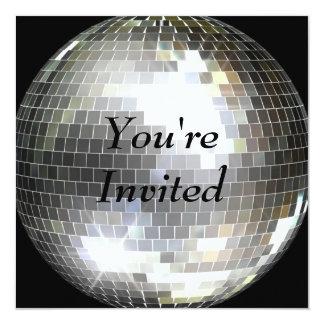 Le invitan - bola de discoteca invitación 13,3 cm x 13,3cm