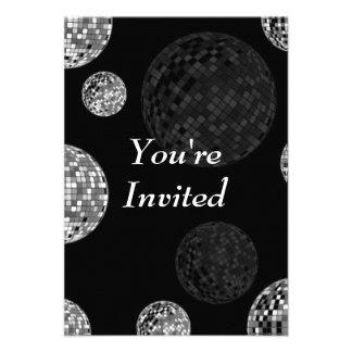 Le invitan - las bolas de discoteca invitación