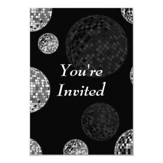Le invitan - las bolas de discoteca invitación 8,9 x 12,7 cm