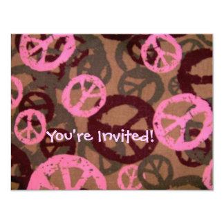 ¡Le invitan! - Los signos de la paz invitan Invitación 10,8 X 13,9 Cm
