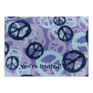 ¡Le invitan! - Los signos de la paz invitan Invitación 12,7 X 17,8 Cm