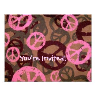 ¡Le invitan! - Los signos de la paz invitan Invitación