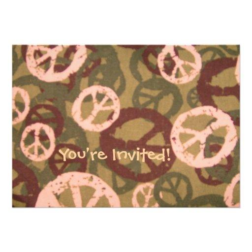 ¡Le invitan! - Los signos de la paz/la mirada de C Comunicados Personalizados
