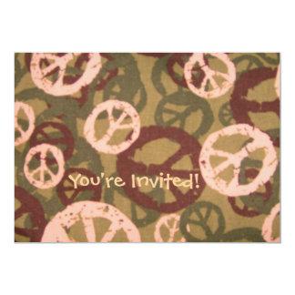 ¡Le invitan! - Los signos de la paz/la mirada de Invitación 12,7 X 17,8 Cm