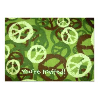 ¡Le invitan! - Los signos de la paz oscuros multi Invitación 12,7 X 17,8 Cm