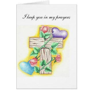 Le mantengo mis rezos tarjeta de felicitación