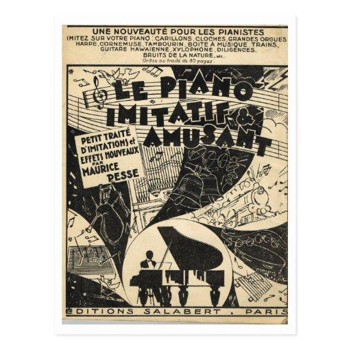 Le Piano Imitatif y Amusant, partitura Postales
