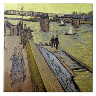 Le Pont de Trinquetaille en Arles, 1888 (aceite en Tejas Cerámicas