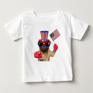 Le quiero, barro amasado, perro del tío Sam, Camiseta De Bebé