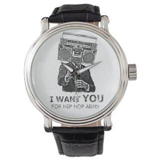 Le quiero para el ejército del hip-hop relojes