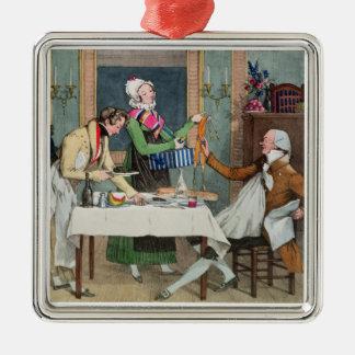 Le Restaurant, pub. por Rodwell y Martin, 1820 (c Adorno Cuadrado Plateado