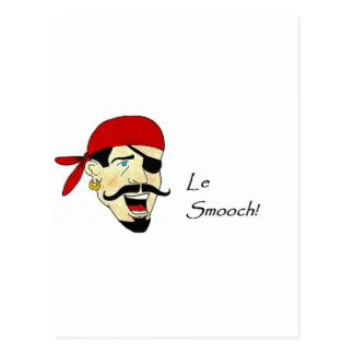 ¡Le Smooch! Postal
