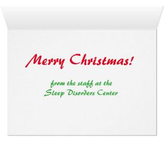 Le vemos cuando usted es tarjeta de Navidad el