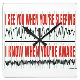 Le veo cuando usted es reloj el dormir