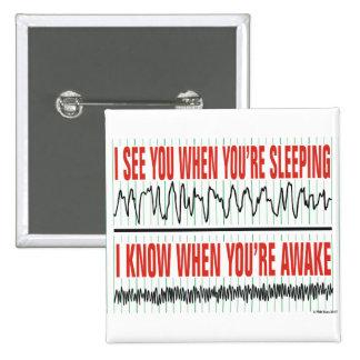 Le veo cuando usted está durmiendo… Botón