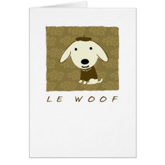 Le Woof Tarjeta Pequeña