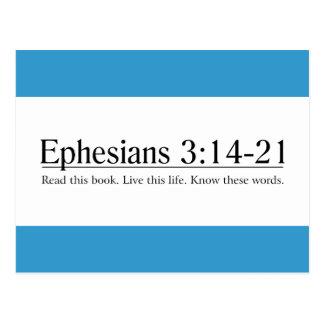 Lea el 3:14 de Ephesians de la biblia - 21 Tarjeta Postal