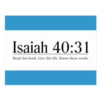 Lea el 40:31 de Isaías de la biblia Postales