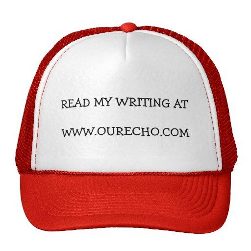Lea mi escritura en nuestro eco gorros