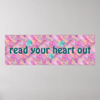 Lea su corazón hacia fuera imprimen impresiones