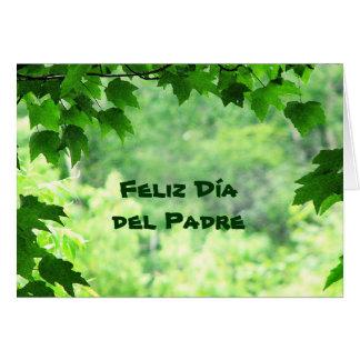 Leafy Día del Padre Tarjeta De Felicitación