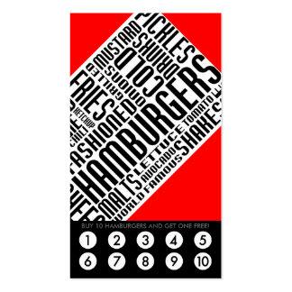 lealtad de la hamburguesa (wordWEBs) Tarjetas De Visita