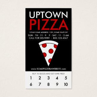 lealtad de la parte alta de la pizza tarjeta de negocios