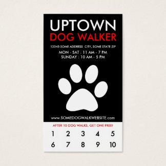 lealtad de la parte alta del caminante del perro tarjeta de negocios