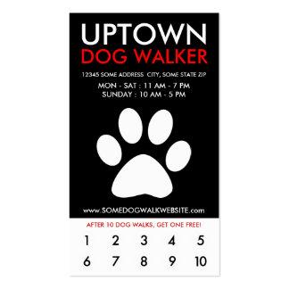 lealtad de la parte alta del caminante del perro tarjeta de visita