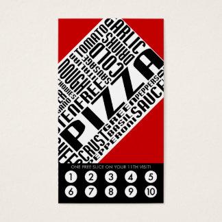 lealtad de la pizza (wordWEBs) Tarjeta De Negocios