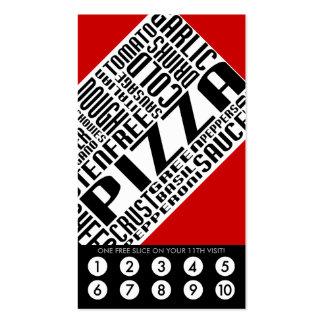 lealtad de la pizza (wordWEBs) Tarjetas De Visita