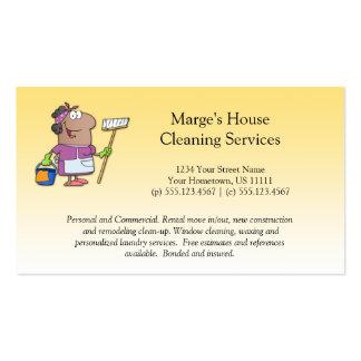 Lealtad de la señora de la limpieza de la casa del tarjetas de visita