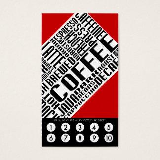 lealtad del café (wordWEBs) Tarjeta De Negocios