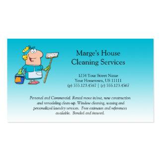 Lealtad del cliente de la limpieza de la casa de tarjetas de visita