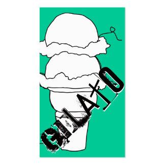 lealtad del garabato del gelato tarjetas de visita